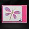 Greeting card iris folded dragonfly