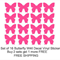 Set of 16 Butterfly Vinyl Wall Decal Stickers-Buy 2 sets get 1 more FREE