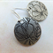 Antique Silver Flower Coin Earrings