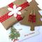 red crystal cut glass earrings Christmas gift , gift tag,  & Christmas wrap
