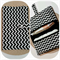 Nappy Wallet - Black Chevron with Black lining