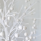 White Felt Ball Garland, 3m, 2cm, 20mm, 50 balls, 100% wool
