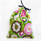 Christmas Gift Bag - Reusable & Eco Friendly. Fabric Xmas Bag. Green Ornaments.
