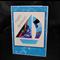 Greeting card iris folded sail boat
