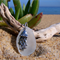 White Sea Glass Jellyfish Pendant