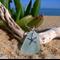 Seafoam Sea Glass Starfish Pendant
