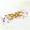 Turban Knot Bow Headband - Confetti Print - Gold Bow - Glitter