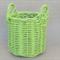 """Key Lime"" Vintage Midi Basket. Home Décor. Storage Basket. One Of A Kind. Neon."
