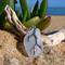 White Sea Glass Coral Branch Pendant