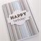 Handmade Card - Happy Birthday Stripes 2
