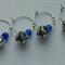 Jingle Bells Wine Charms (Blue) set of 4