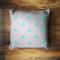 Mint geometric triangle linen cotton cushion throw pillow w insert house beige
