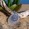 White Sea Glass Nautilus Pendant