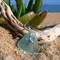Seafoam Blue Sea Glass Starfish Pendant