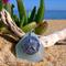 Soft Blue Sea Glass Sand Dollar Pendant