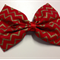 Red and Gold Hair Clip
