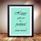 Audrey Hepburn quote, Happy girls are prettiest, aqua print, typography