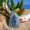 Soft Blue Sea Glass Jellyfish Pendant