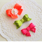 Set of 3 Baby / Girls Clip / Clips / Bows - 'Neon Love'