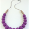Silicone Teething Necklace Eggplant & Coffee