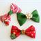 'Christmas Tree' - Set of 3 Christmas Clip / Clips / Bows