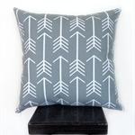Grey Arrow Cushion Cover