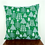 Christmas Cushion Cover in Green and White
