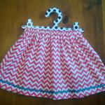 The 'Zarli Everyday Skirt' sizes 1-5, pink cheveron