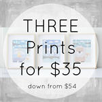 Set of THREE Prints 8x10 - Ready to ship