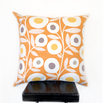 Orange Retro Flower Cushion Cover