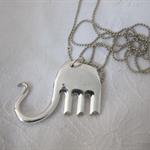 Fork Elephant pendant