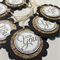 Black, Gold & White For You Gift Tags, Thankyou Tags, Treat Tags - Set of 6