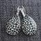 White Leopard ~Teardrop Lever Back Earrings