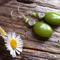 Green Peridot Gemstone & Sterling Silver Earrings