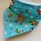 Baby Bandana Bib - Aqua Christmas - Elf, Raindeers and Santa