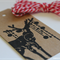 Deer Christmas Gift Tags - Kraft Finish with Baker's Twine
