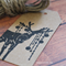 Deer Christmas Gift Tags - Kraft Finish with Jute