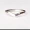 Chevron ring, sterling silver, wishbone ring