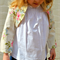 girls linen bolero - ivory floral tailored linen jacket