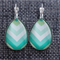Jade Arrow~Teardrop Lever Back Earrings