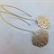 Gold Filigree 'Mum' Flower Earrings