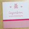 Girls Christening Card - Congratulations card
