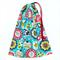 Christmas Gift Bag - Large. Reusable & Eco Friendly. Fabric Bag. Blue Ornaments.