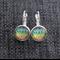 Rainbow Plume ~ Lever Back Earrings