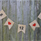 Custom Wedding Date Bunting. Date Banner. Date Garland. You Choose Text Colour.