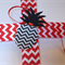Pineapple Gift Tags 12 black red & white