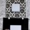 Hanging black 3 square photo frame