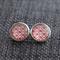 Tudor Rose ~ Round Stud Post Earrings