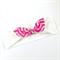 Turban Knot Bow Headband - Gold Dots - Hot Pink Chevron Bow