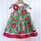 Desert Rose Christmas Dress Pink Red Green Ornaments Sizes 3-5